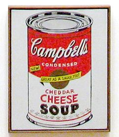 Campbell's cheddar cheese soup can