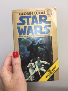 Husband's copy of Star Wars novel, 1976 original edition.