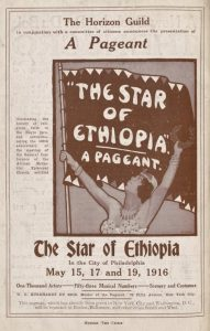 Star of Ethiopia Program, Philadelphia 1916: a Black Woman Holding a Banner